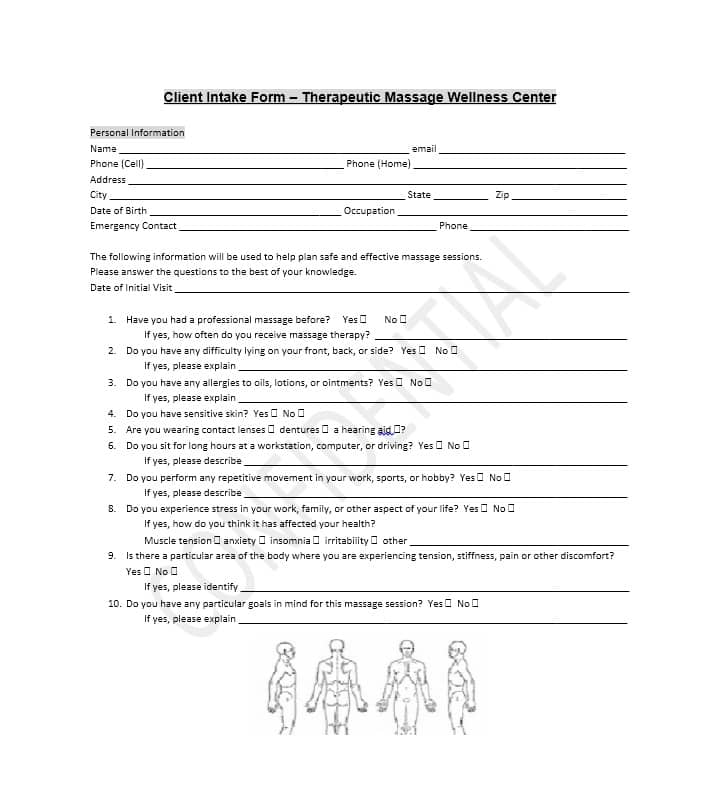 Personal Injury Attorney Client Intake Form