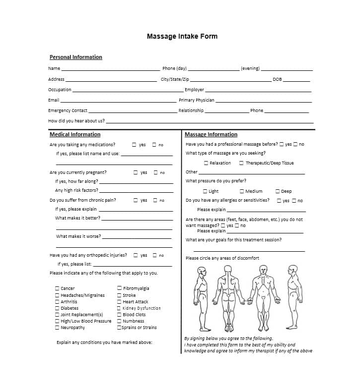 Personal Injury Client Intake Form Template