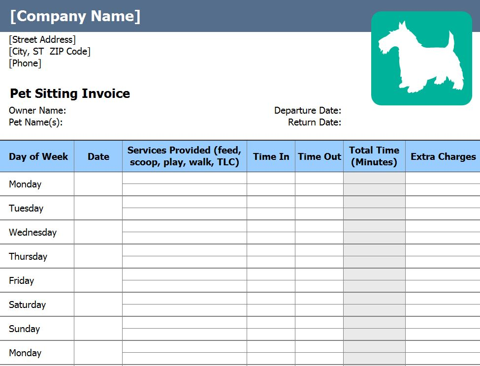 Pet Sitting Business Forms Free