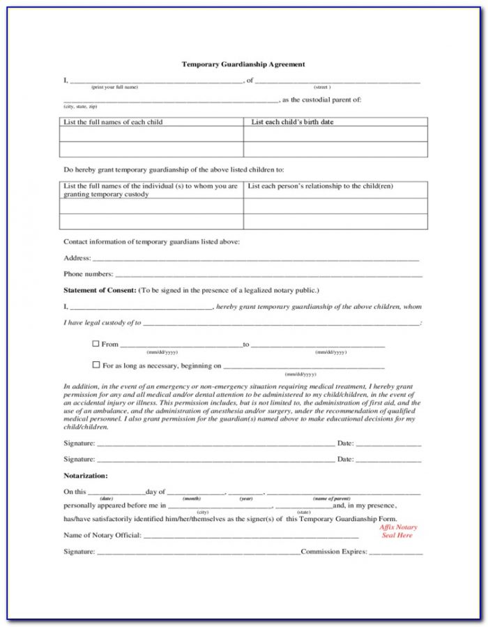 Petition For Guardianship Form Alabama