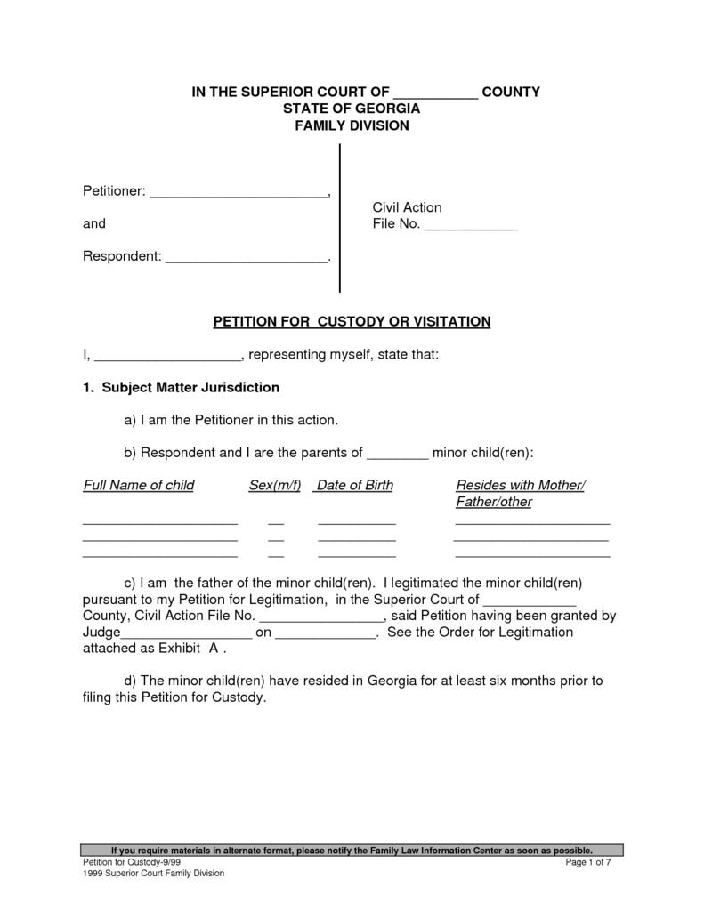 Petition For Guardianship Form Illinois