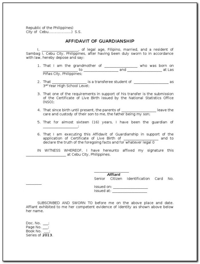 Petition For Guardianship Form Philippines