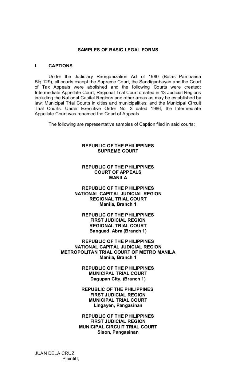 Philippine Legal Formsaffidavit Of Non Tenancy