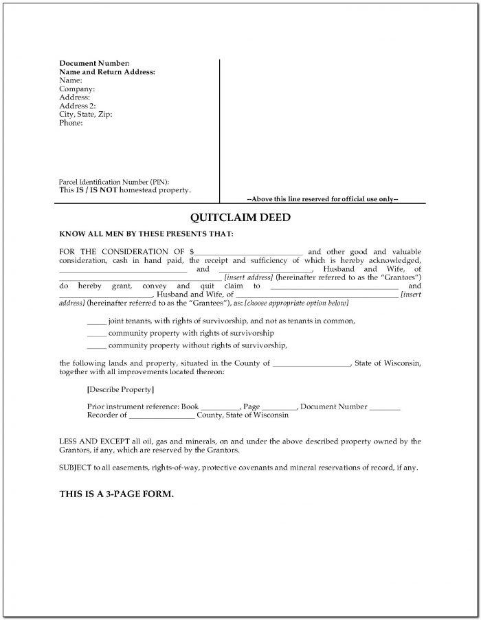 Pierce County Washington Quit Claim Deed Form