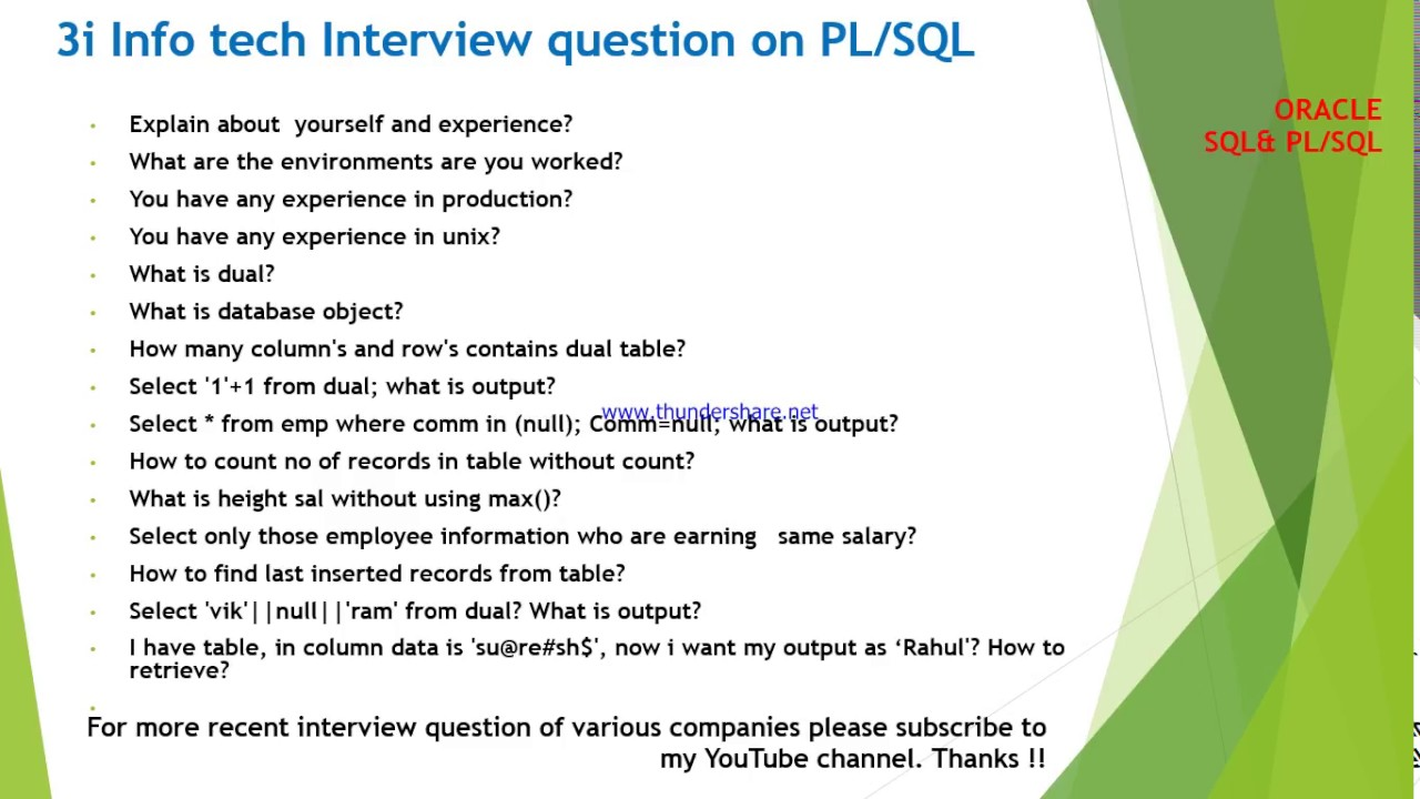 Pl Sql Forms And Reports Interview Questions