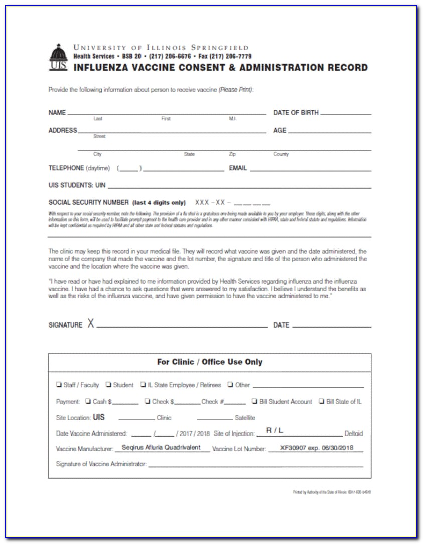 Pneumococcal Vaccine Consent Form Texas