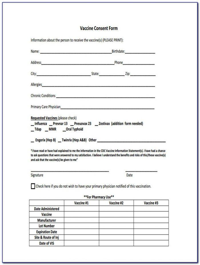 Pneumonia Vaccine Consent Form 2016