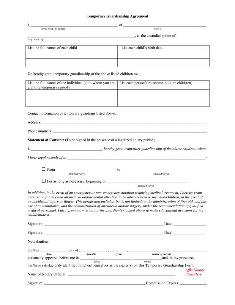 Polk County Power Of Attorney Form Best Of Temporary Guardianship Form For Grandparents Mersnoforum