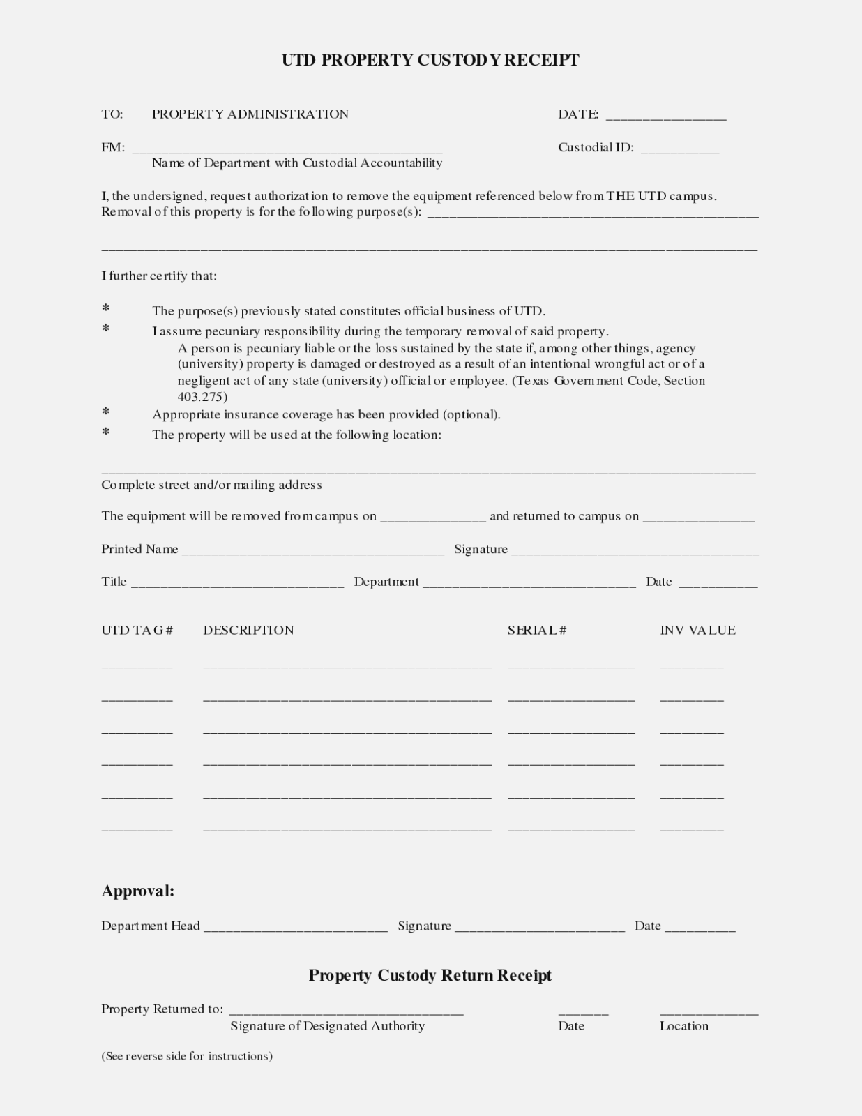 Power Of Attorney Form Texas Guardianship