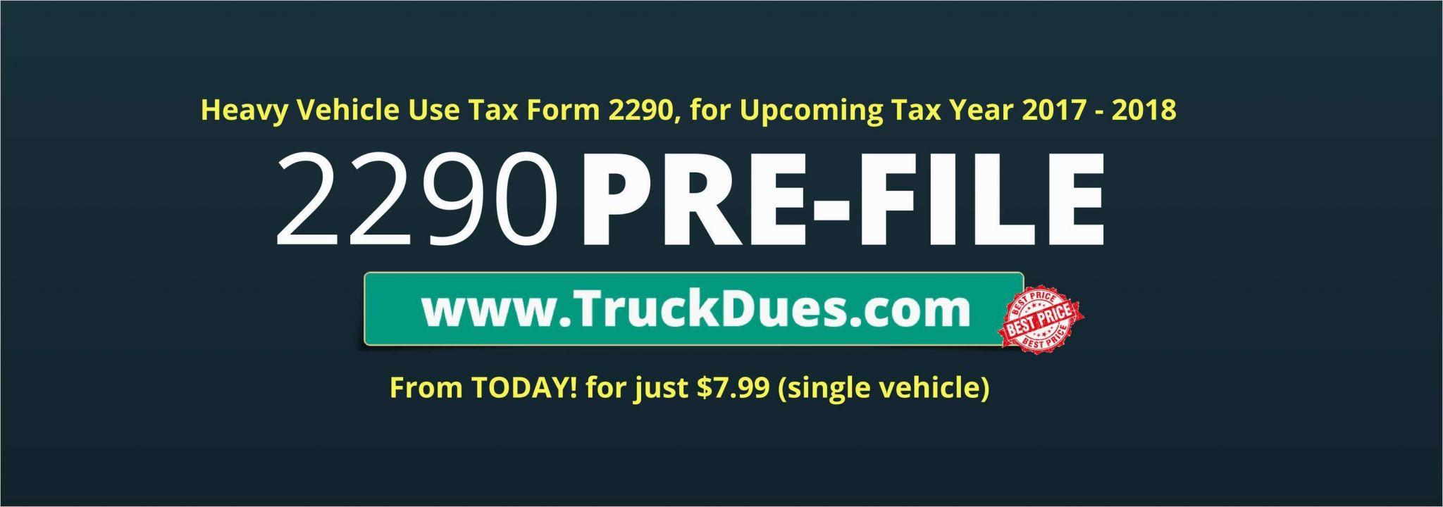 Pre File Form 2290