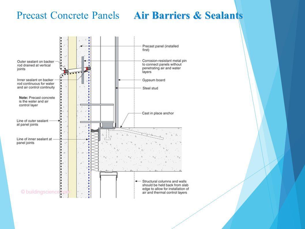 Precast Concrete Panels Air Barriers & Sealants
