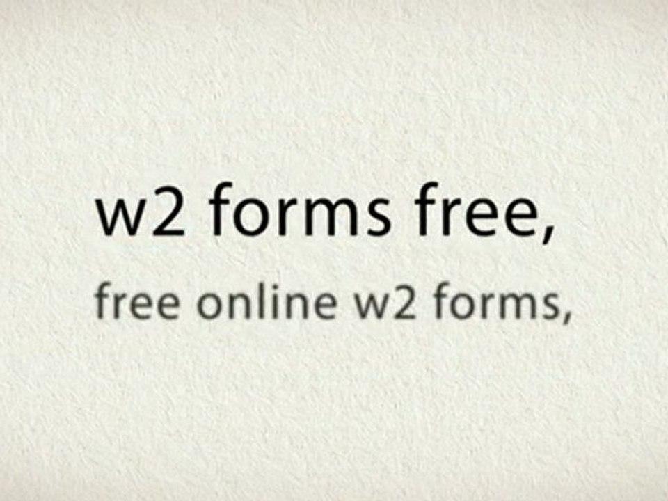 Print W2 Forms Free
