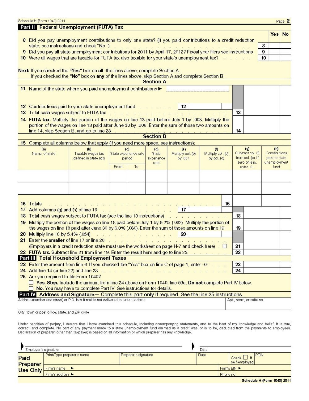 Printable 1040a Tax Form 2014