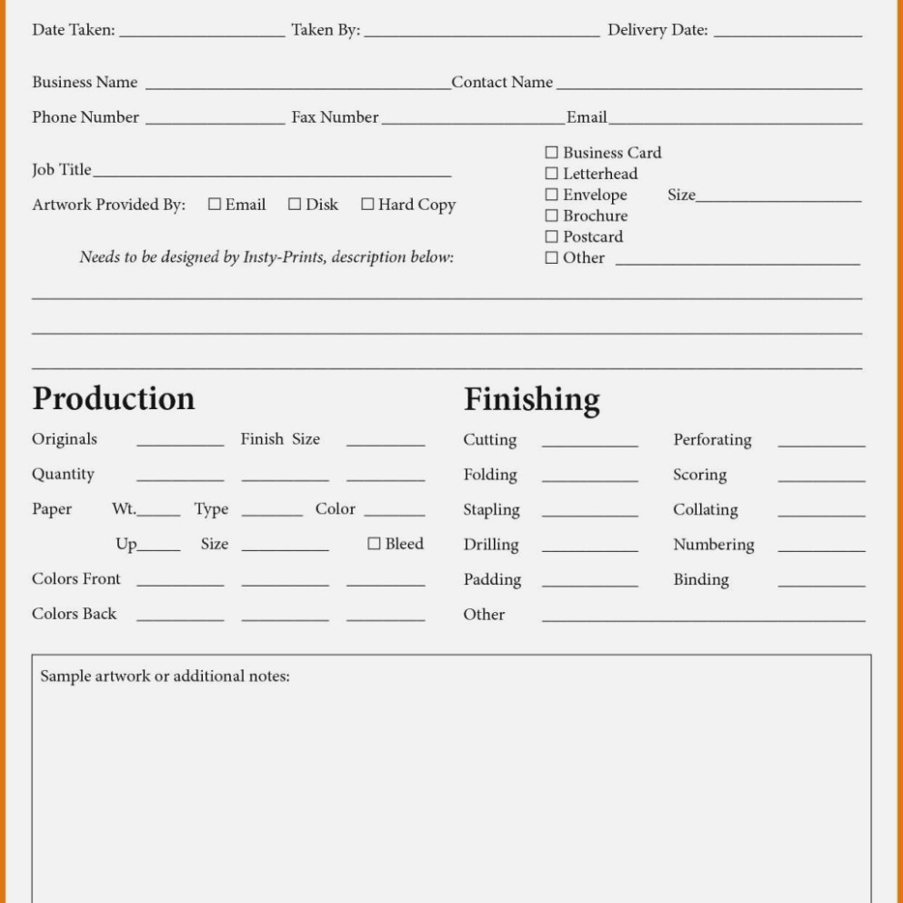Printable Blank Estimate Forms