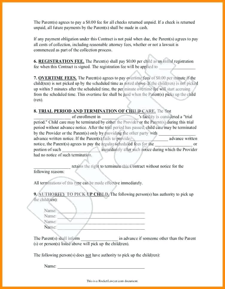 Printable Daycare Forms For Parents