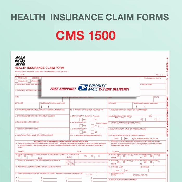 Inspirational Fillable Cms 1500 Template 1500 Claim Form Template New 1500 Health Insurance Claim Form Health