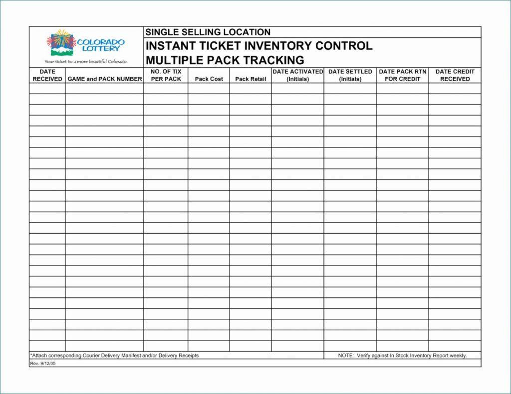 Printable Inventory Sheet Sample