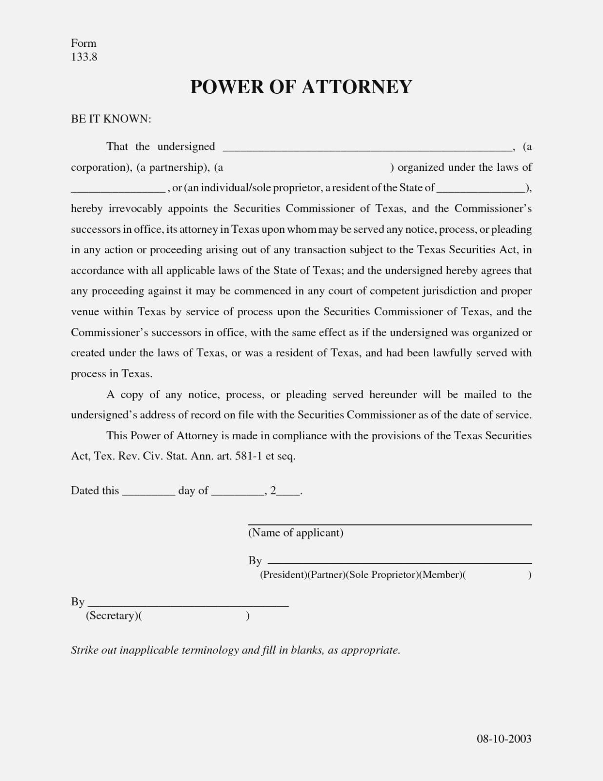 Printable Power Of Attorney Form Georgia