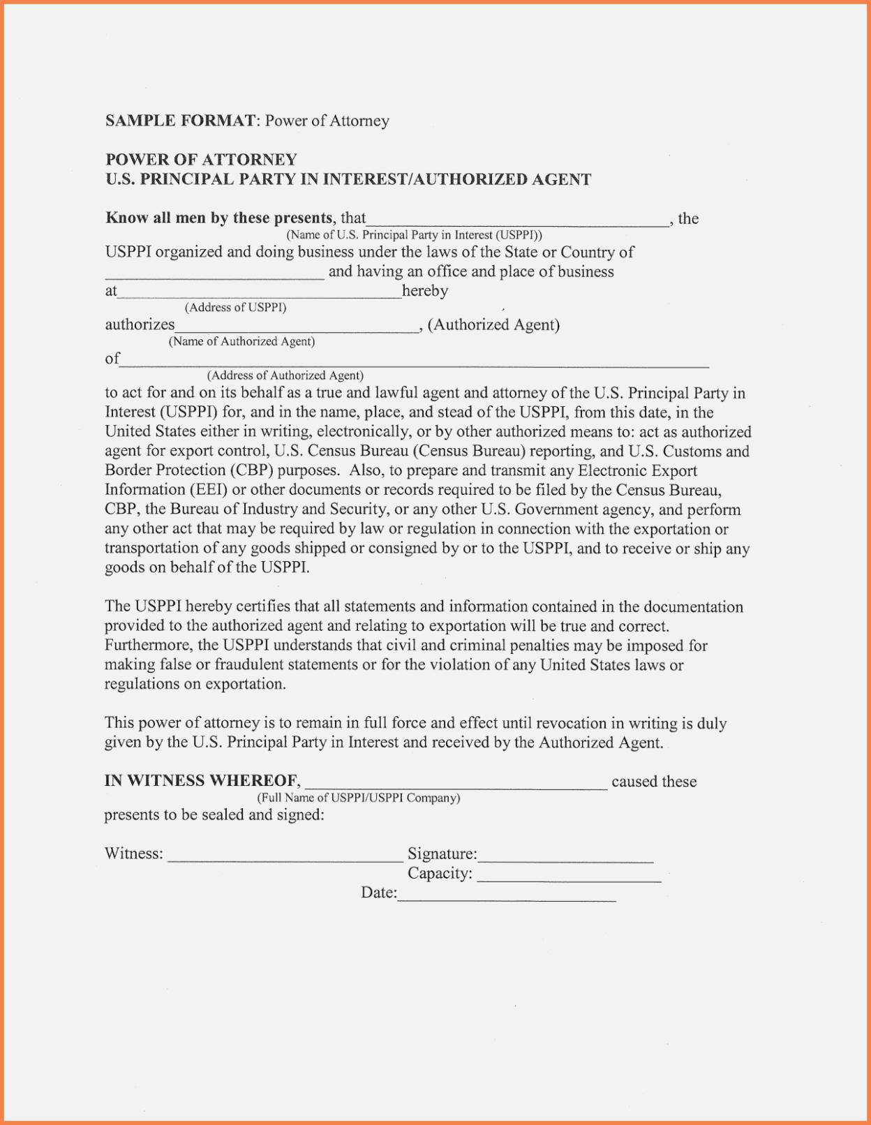 Printable Power Of Attorney Form Nj