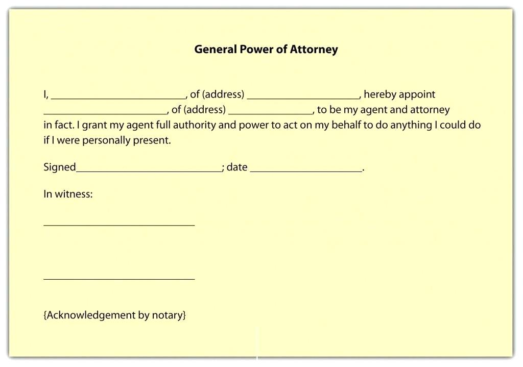 Printable Power Of Attorney Forms Uk