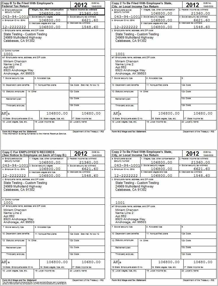 Printable W2 Form 2013