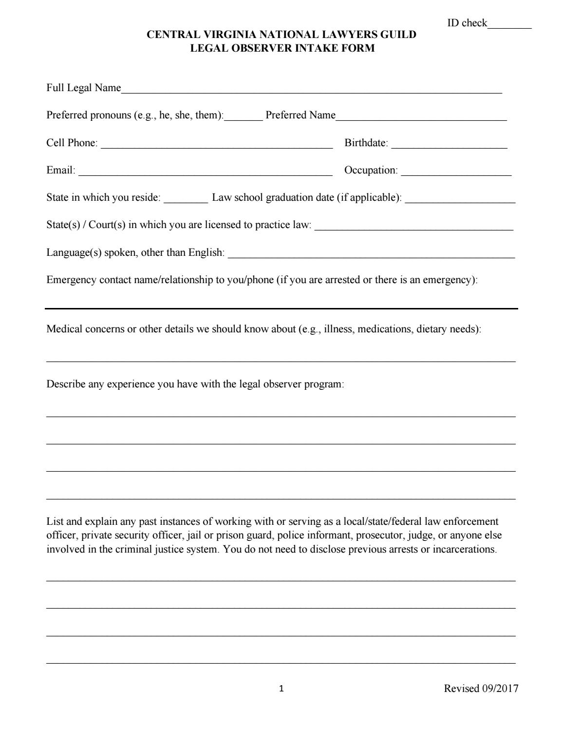 Prison Officer Application Form