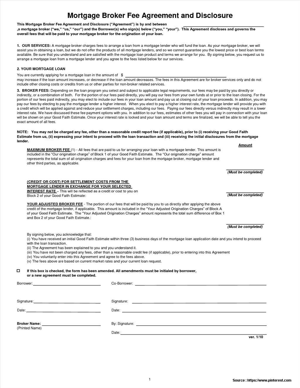 Private Mortgage Agreement Form Canada