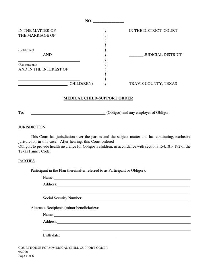 Pro Se Divorce Texas Free Forms