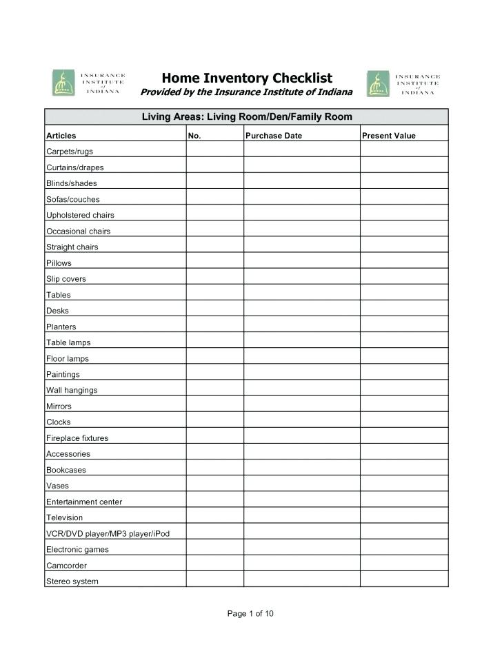 Probate Inventory Form Indiana