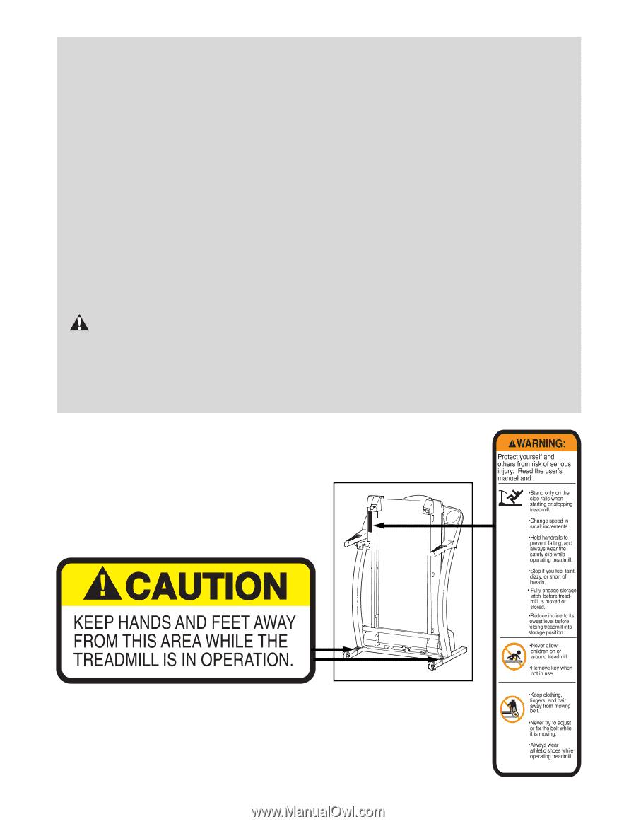 Proform 535x Treadmill User Manual