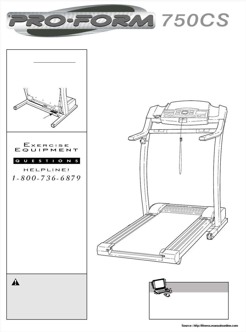 Proform 750 Cs Treadmill Manual