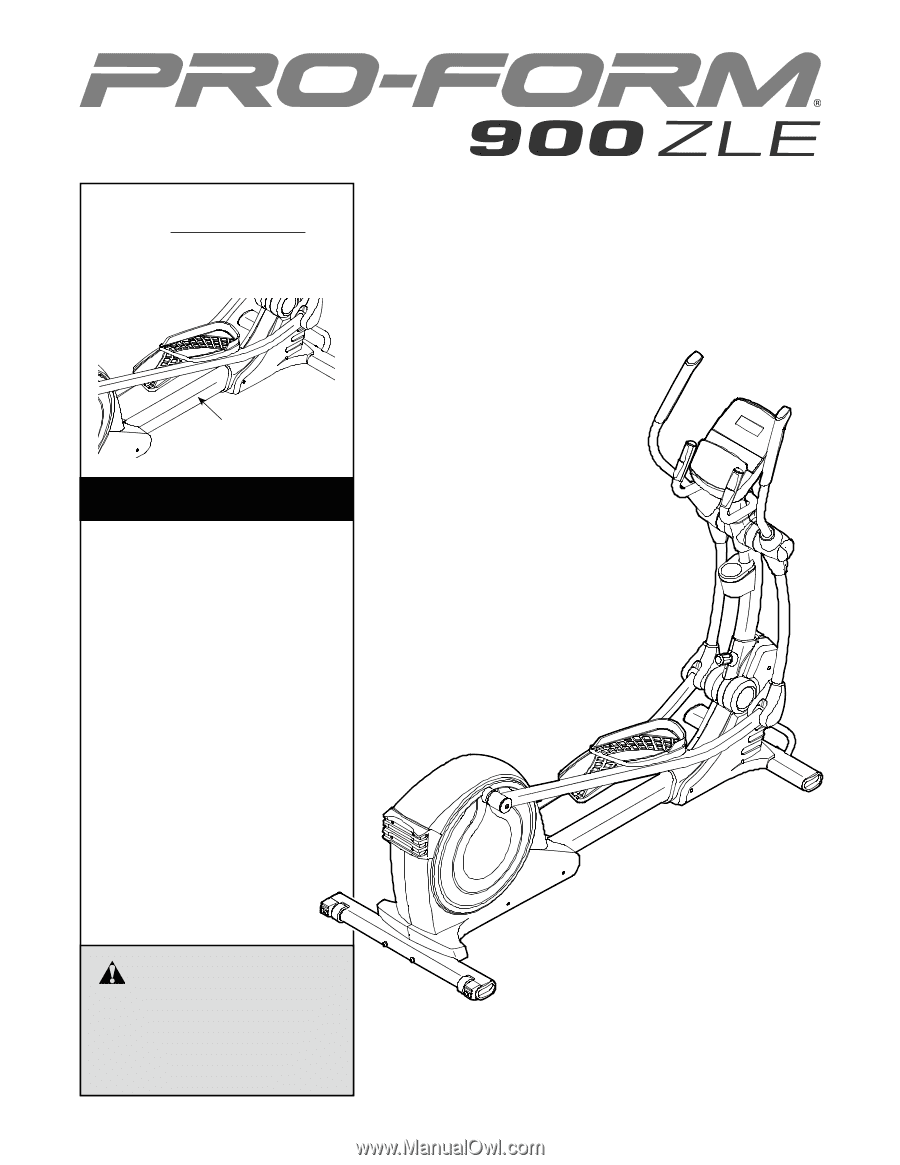 Proform 900 Elliptical Manual