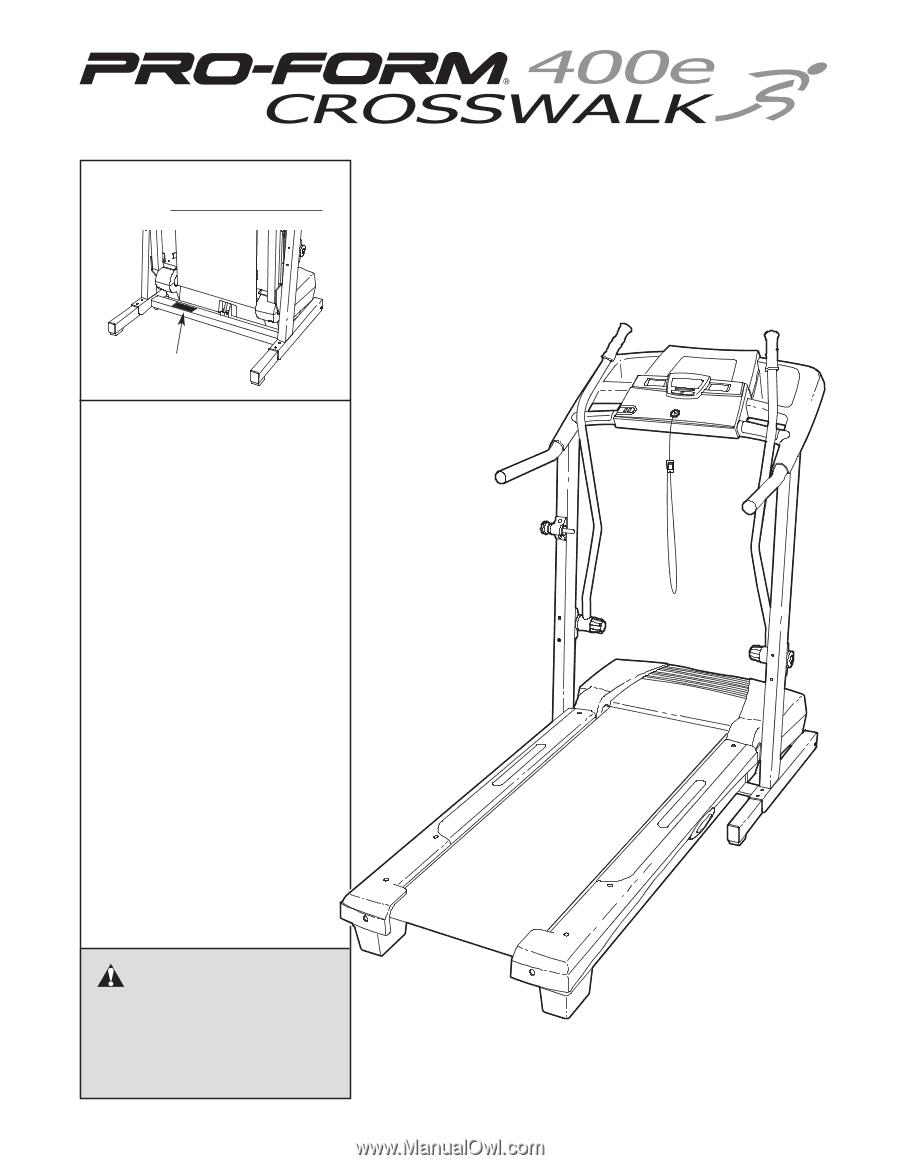 Proform Crosswalk 400e Owners Manual