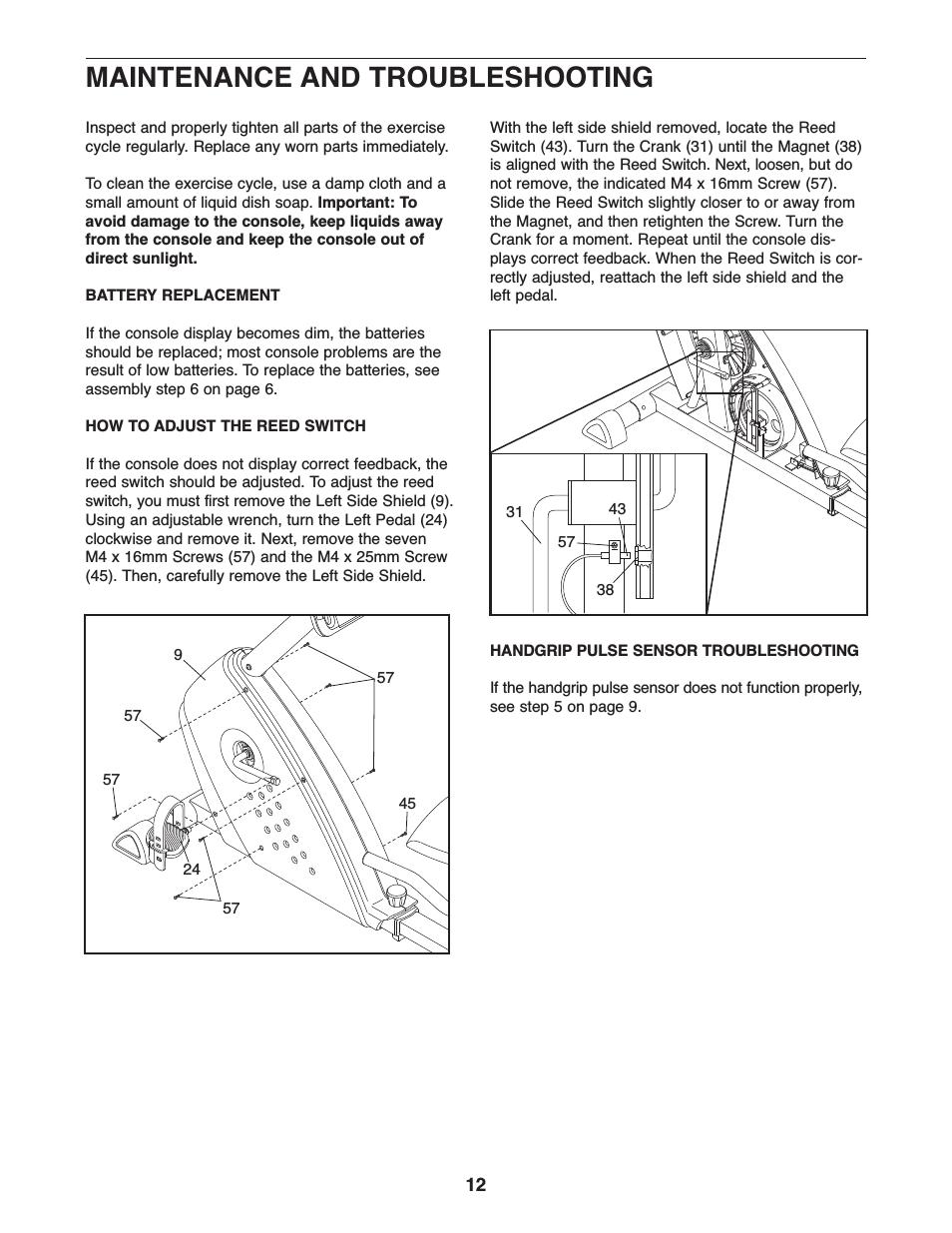 Proform Gr 80 Recumbent Bike Manual