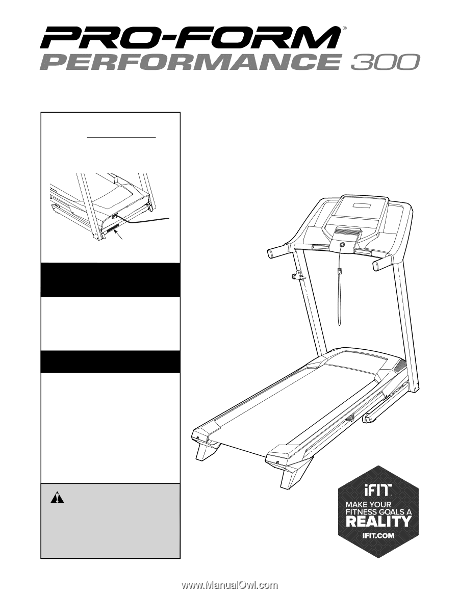 Proform Performance 300 Treadmill Manual