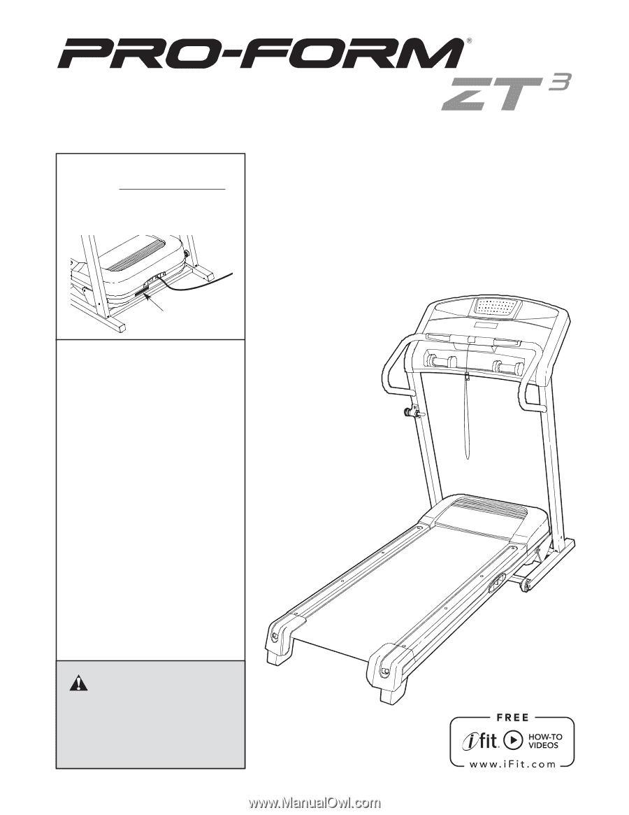 Proform Zt3 Treadmill Troubleshooting