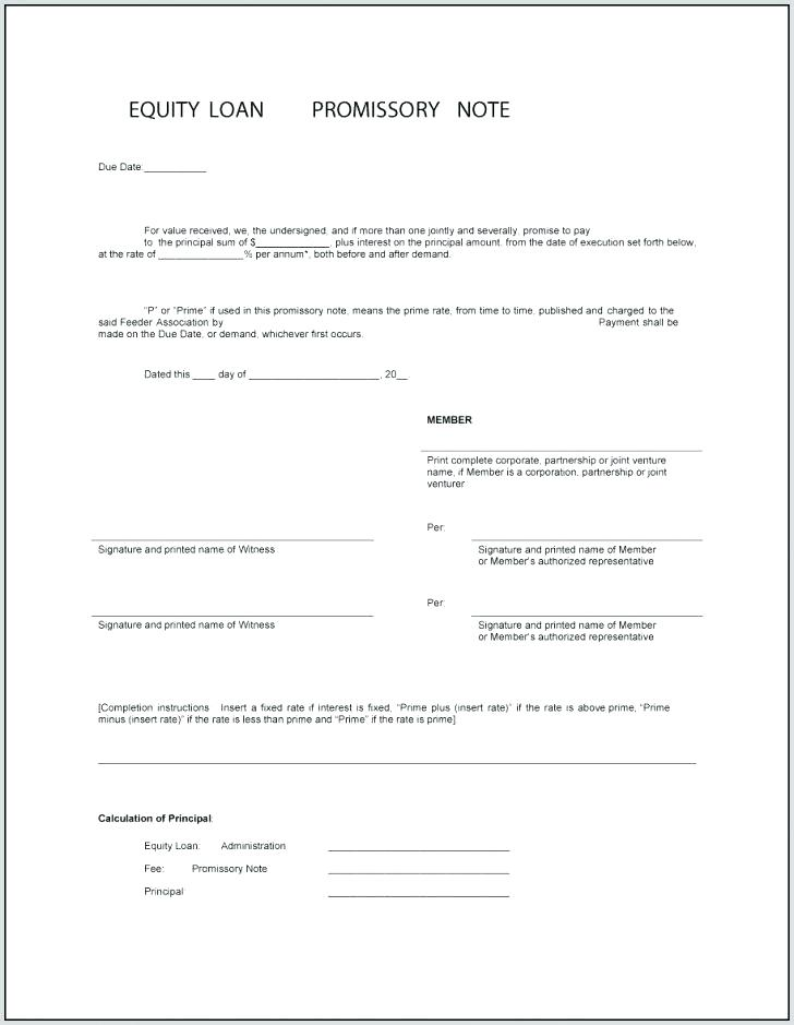 Promissory Note Legal Notice Format