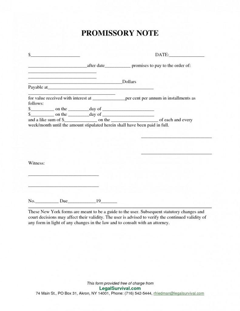 Promissory Note Template California