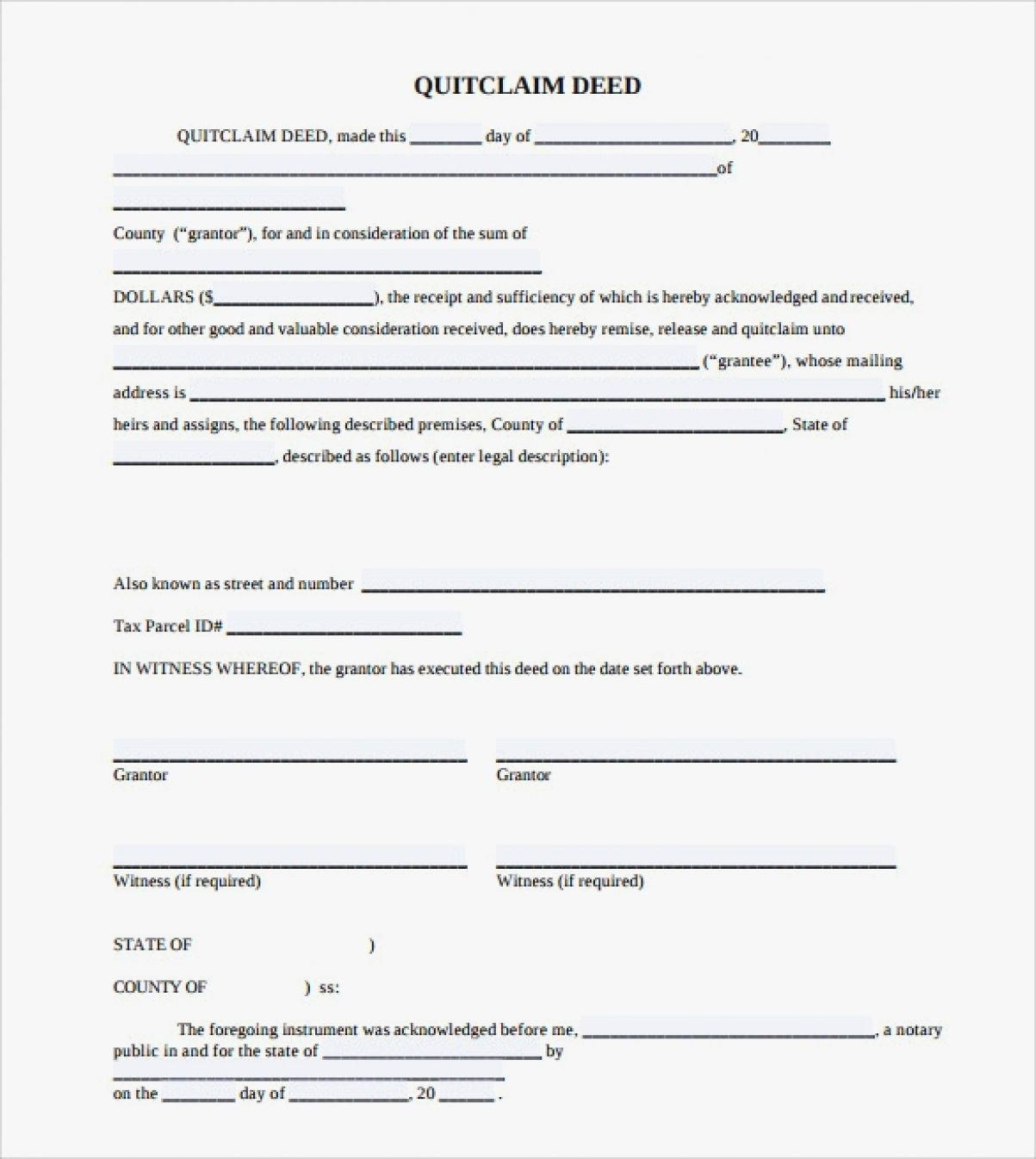 Quick Claim Deed Form Florida Nice Quit Claim Deed Florida Form Business Templates Blank Well Include