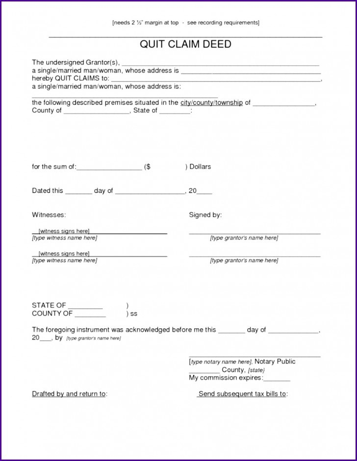 Quick Claim Deed Form Lee County Florida