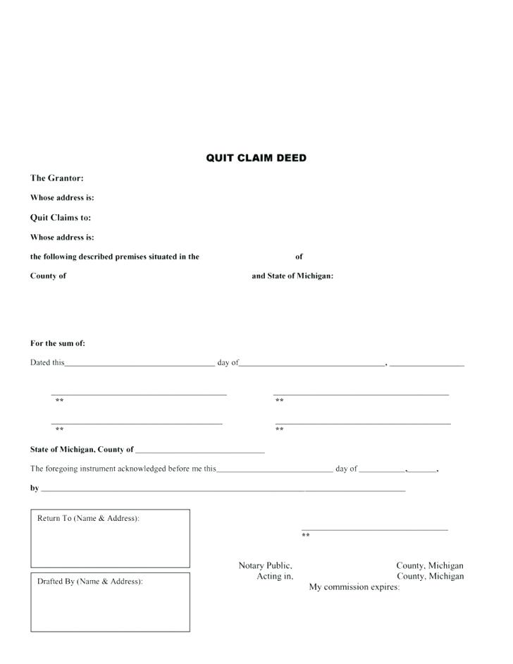 Quit Claim Deed Arizona Free Form