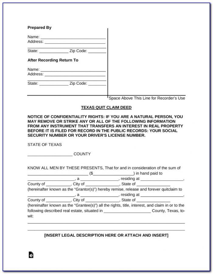 Quit Claim Deed Form Johnson County Kansas