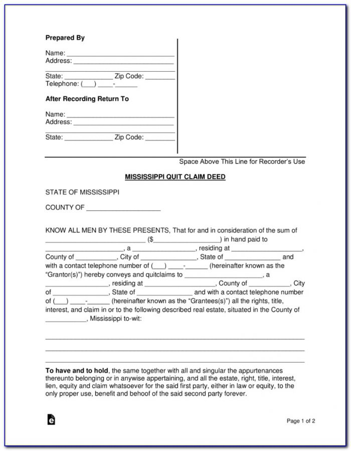 Quit Claim Deed Form Knox County Tennessee