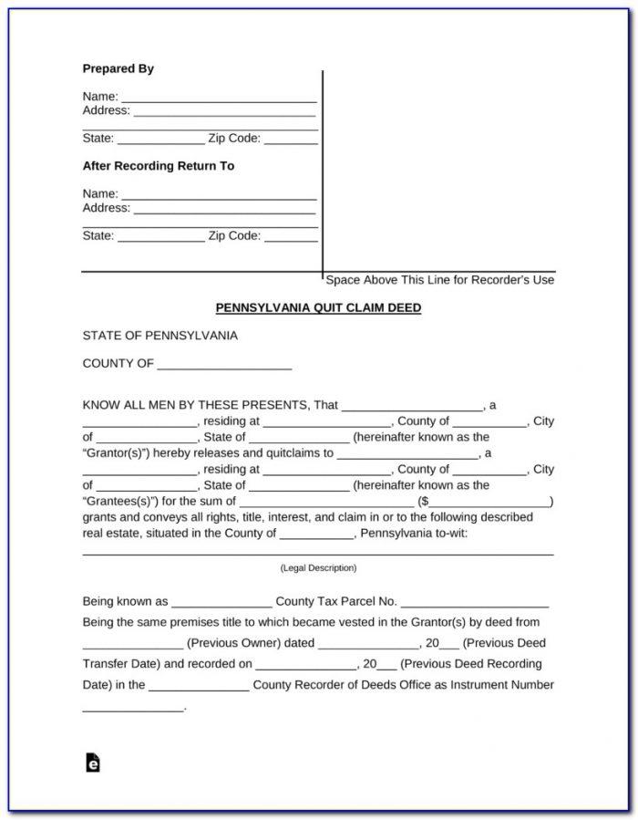 Quit Claim Deed Form Memphis Tn