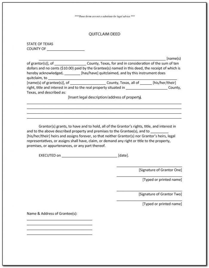 Quit Claim Deed Form Pierce County Washington State