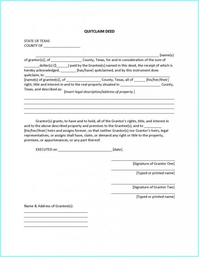 Quit Claim Deed Form Summit County Ohio