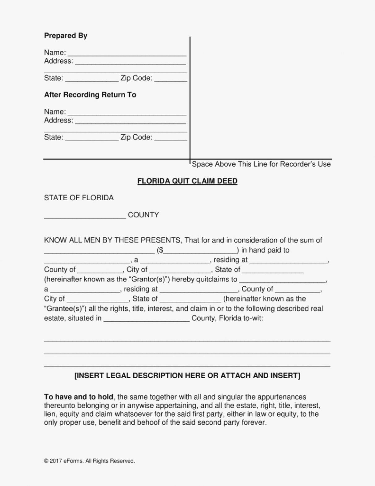Quit Claim Deed Florida Luxury Quit Claim Deed Florida Form Template Fresh Of Release For ? Cisatl