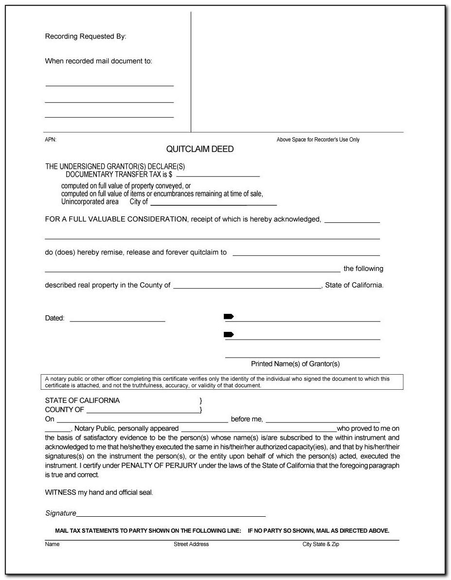 Quit Deed Claim Form Michigan