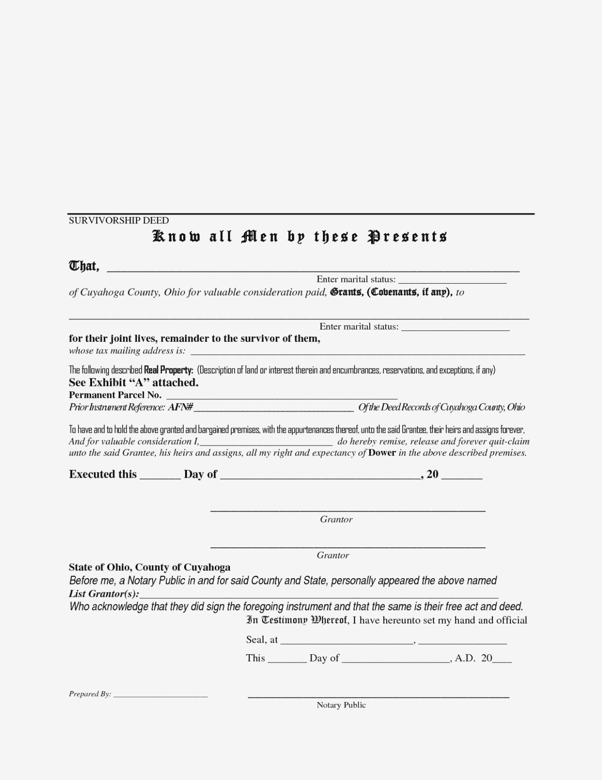 Quit Deed Claim Form Ohio