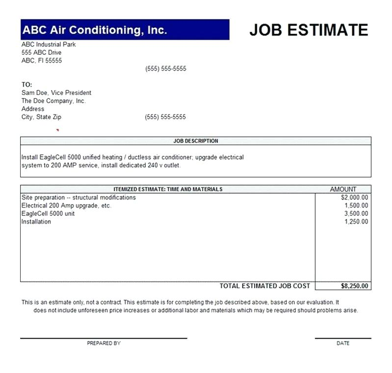 Quotation Form Sample Template